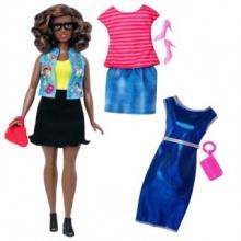 MATTEL  Barbie modelka s oblečky - Afroameričanka