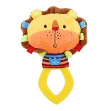 chrastítko plyšové s kousátkem BABY lev (od 0 let)