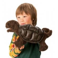 Mládě želvy sloní (pohyblivý plyšák na ruku), FOLKMANIS PUPPETS