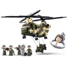 Stavebnice SLUBAN Transportní helikoptéra CHINOOK