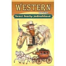 Westernové hrací karty - Jednohlavé mariášové karty
