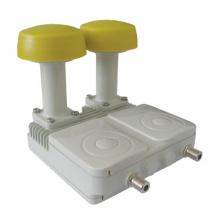 Satelitní konvertor Interstar GI206 0,2dB Monoblock TWIN