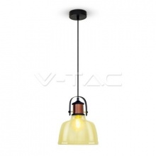 VT-7220-3726 V-TAC lustr skleněný Shade Amber Pendant