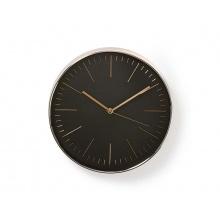 Hodiny analogové NEDIS BLACK / ROSE GOLD CLWA013PC30BK 30 cm