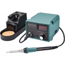 EXTOL PREMIUM stanice pájecí s LCD a elektronickou regulací teploty a kalibrací 8794520