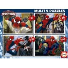 EDUCA Puzzle Dokonalý Spiderman 4v1 (50,80,100,150 dílků)