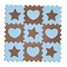 SUN TA TOYS Pěnové puzzle Hvězdy a srdce modré S4 (30x30)