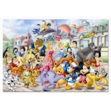 EDUCA Puzzle Průvod postaviček Disney 200 dílků
