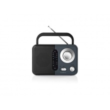 Rádio FM NEDIS RDFM1300GY BLACK / GREY
