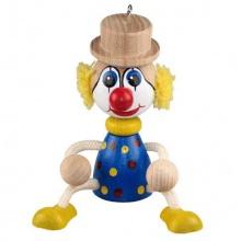 Dřevěný klaun na pružině