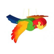 Fauna Dřevěný papoušek na zavěšení