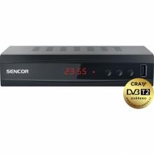 SDB 5002T Sencor - DVB-T2 H.265, HEVC přijímač s možností nahrávaní, 1x SCART, 1x HDMI, 1x RJ45, USB