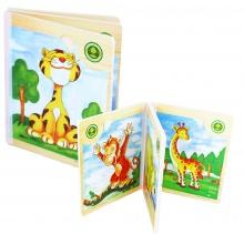 kniha puzzle dřevěné africké zvířátka (od 3 let)