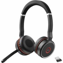 EVOLVE-75-STEREO Jabra - bezdrátová náhlavní souprava pro PC, Bluetooth, spona přes hlavu, na obě uši