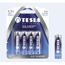 1099137005 Tesla - SILVER+ Alkaline baterie AA (LR06, tužková, blister) 4 ks