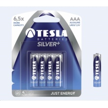 1099137002 Tesla - SILVER+ Alkaline baterie AAA (LR03, mikrotužková, blister) 4 ks