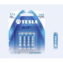 1099137003 Tesla - BLUE+ Zinc Carbon baterie AAA (R03, mikrotužková, blister) 4 ks