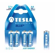 1099137068 Tesla - BLUE+ Zinc Carbon baterie AA (R06, tužková, paper) 4 ks