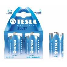 1099137074 Tesla - BLUE+ Zinc Carbon baterie D (R20, velký monočlánek, paper) 2 ks