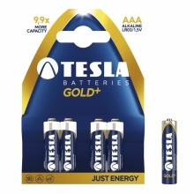 1099137069 Tesla - GOLD+ Alkaline baterie AAA (LR03, mikrotužková, paper) 4 ks