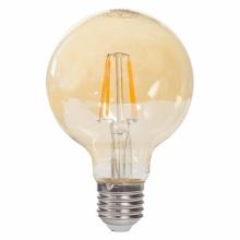GL270424-2G Tesla - LED žárovka GLOBE G80 CRYSTAL VINTAGE, E27, 4W, 230V, 380lm, 2400K, 360°, zlatá