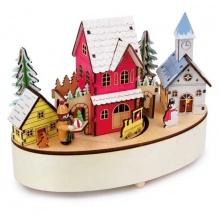 Small Foot Vánoční hrací skříňka se světlem zimní čas