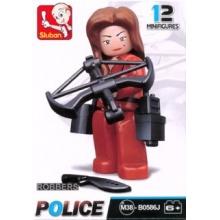 Stavebnice SLUBAN Figurka Zlodějka v červeném