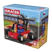EFKO Igráček Závodník s motokárou - červená