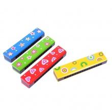 Bigjigs Toys Dřevěná foukací harmonika