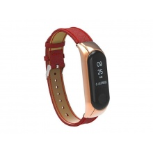 Řemínek XIAOMI MI BAND 3 LEATHER RED