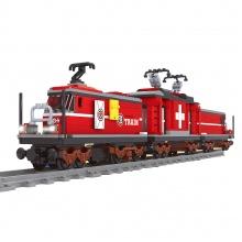 stavebnice AUSINI vlak na baterie červený 529 dílů (od 6 let)