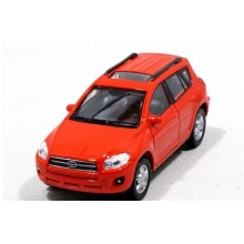 Welly - Toyota RAV 4 model 1:34 červená