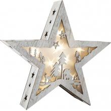 Small Foot Dřevěná vánoční hvězda se světlem malá