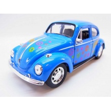 Welly - Volkswagen Beetle model 1:34 modrý duhový