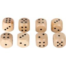 Small Foot Sada přírodních dřevěných herních kostek 8 ks