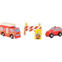 Small Foot Dřevěné hasičské auta