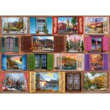 SCHMIDT Puzzle Okna do světa 1000 dílků