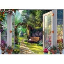 SCHMIDT Puzzle Pohled do kouzelné zahrady 1000 dílků