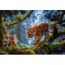 EDUCA Puzzle Tygři na stromě 1000 dílků