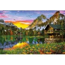 EDUCA Puzzle Alpské jezero 5000 dílků