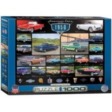 EUROGRAPHICS Puzzle Americká auta z roku 1950, 1000 dílků