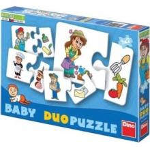 DINO Baby duo puzzle Profese 9x2 dílky