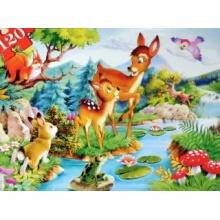 CASTORLAND Puzzle Koloušek (Srneček) 120 dílků