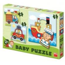 DINO Baby puzzle Dopravní prostředky 3v1 (3,4,5 dílků)