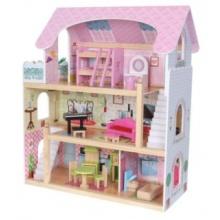 ECOTOYS Domeček pro panenky Pohádková rezidence s vybavením