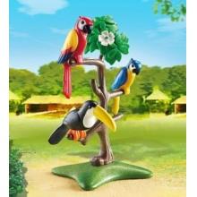 PLAYMOBIL Papoušci a tukan na stromě 6653