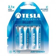 1099137072 Tesla - BLUE+ Zinc Carbon baterie C (R14, malý monočlánek, paper) 2 ks