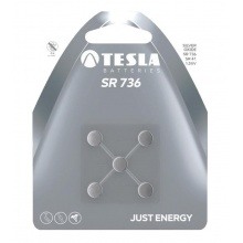 1099137143 Tesla - SR 736 Silver baterie, SR41, BLISTER/5ks