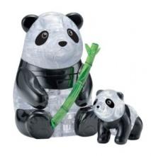 HCM KINZEL 3D Crystal puzzle Panda s mládětem 51 dílků