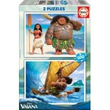 EDUCA Puzzle Odvážná Vaiana 2x100 dílků